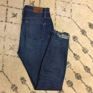 "madewell 10"" high waist skinny jeans -size 27"